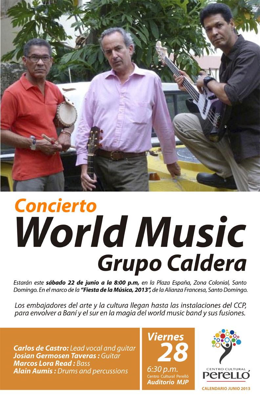 Concierto World Music Grupo Caldera  | Centro Cultural Perello